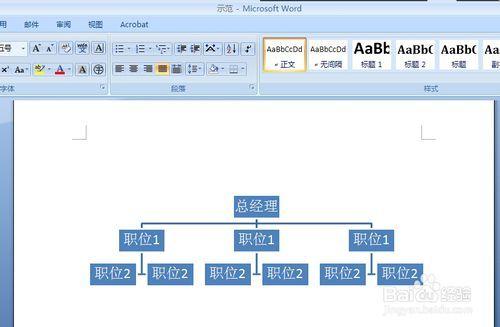 用Word关系绘制二层组织的显示结构图农村房屋设计图层次20万图片