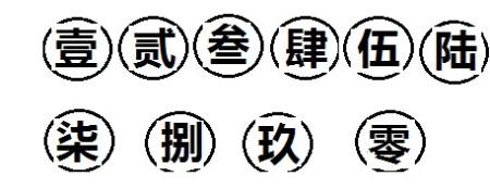 求带圈图纸中文数字壹到玖,要带圈,打在答案里,给分审大写商品房由谁来图片