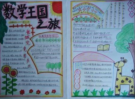 手抄报的图片(关于数学四年级下册)