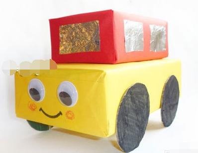 如何diy纸盒制作小汽车方法图解