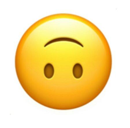 emoji里有一个倒立笑脸的表情是什么意思图片