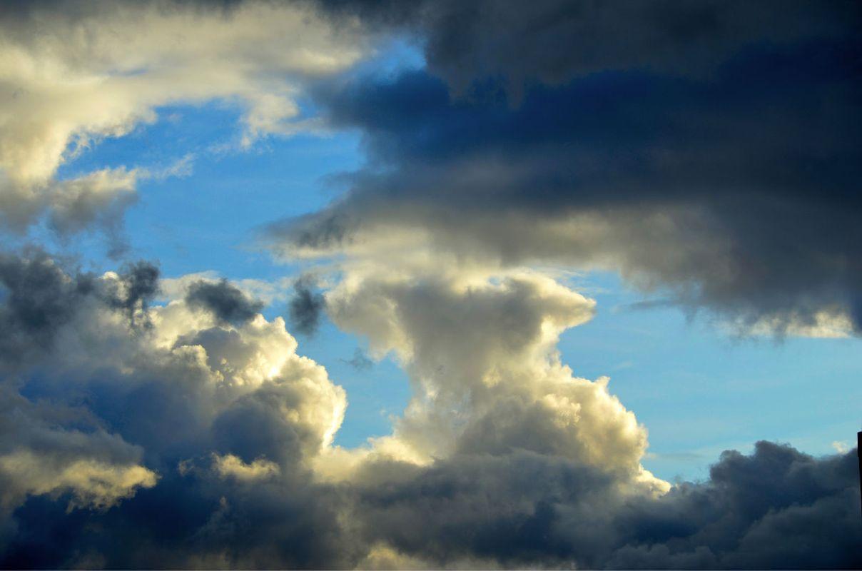 鱼眼透视乌云天空