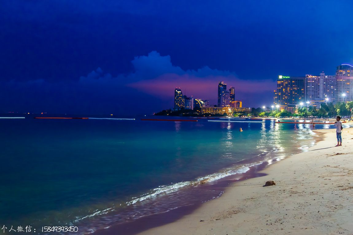 海边夜景图片