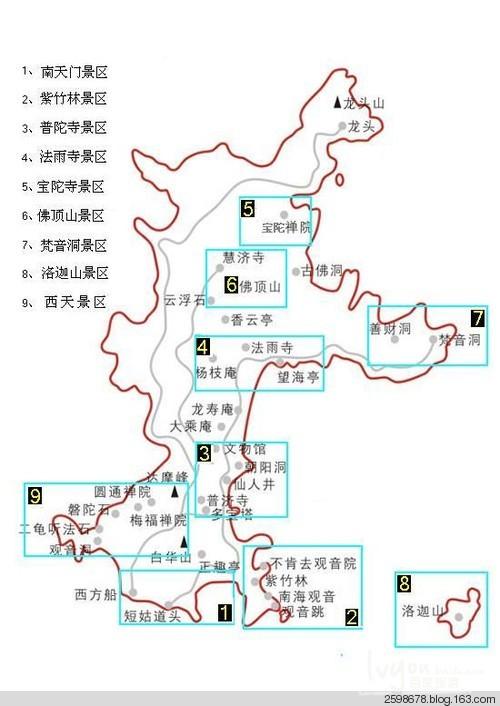 朱家尖手绘旅游地图