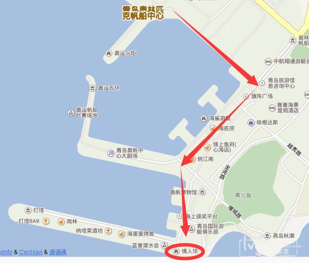 青岛高清景点手绘地图