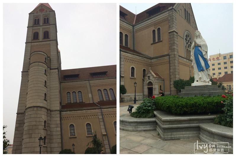 教堂结构以钢筋混凝土与花岗岩结合而成,屋顶覆盖舌头红瓦.
