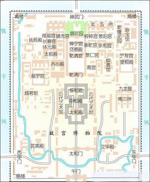 手绘 故宫地图
