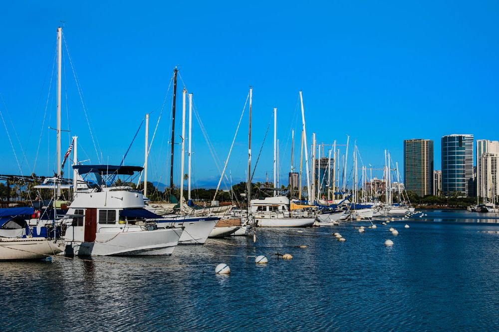 美国港口风景图片