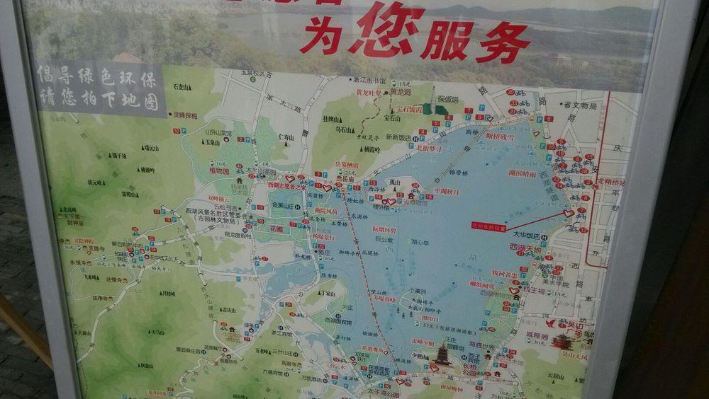 杭州西湖平面图图片
