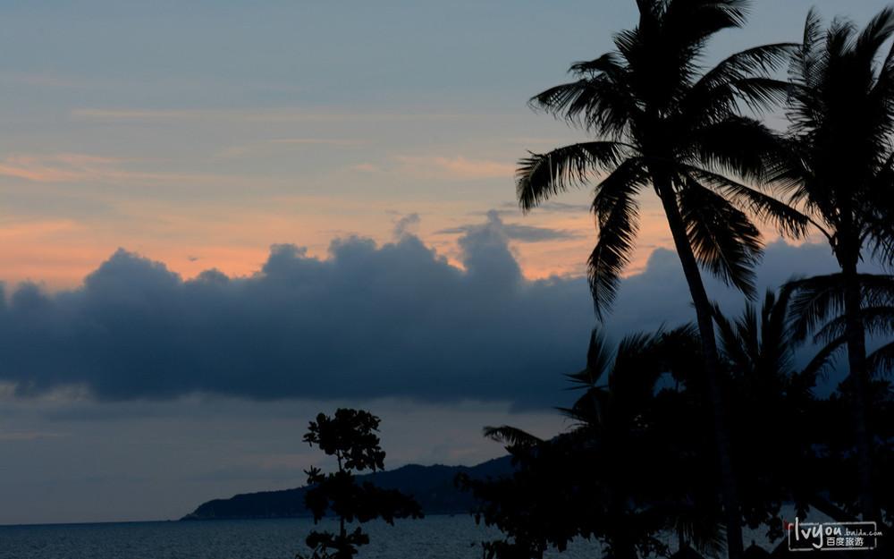 傍晚的海边景色图片