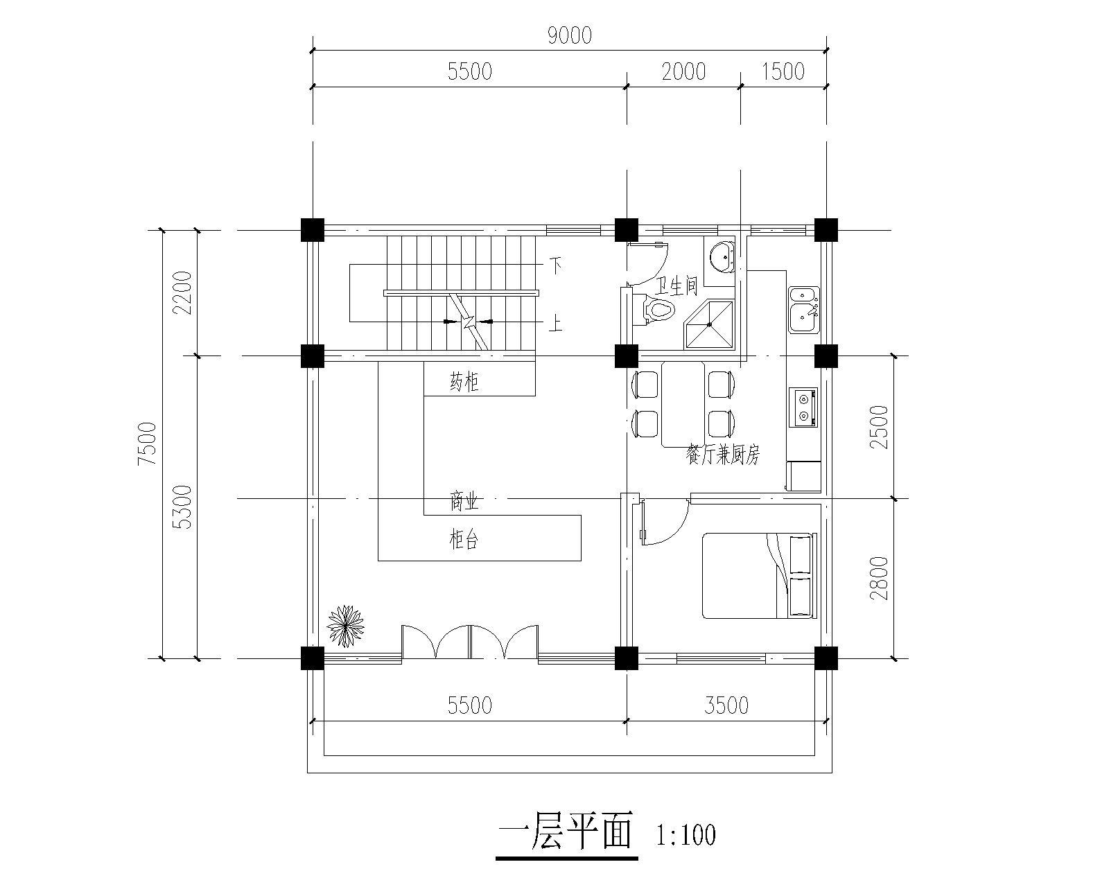 70平米三层的砖混自建房,首层3.6米高.二三层都是3米图片
