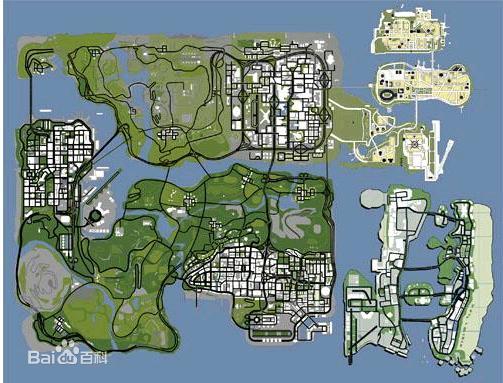 gta sa的地图