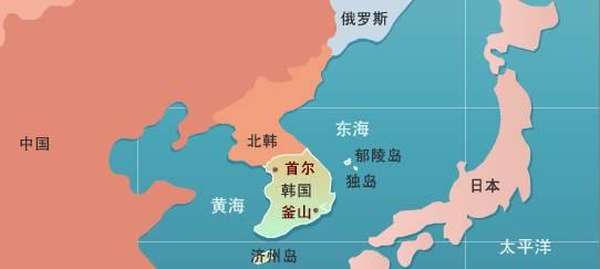 独岛的地理位置