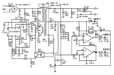 12v--16.8v的锂电池充电指示电路怎么做