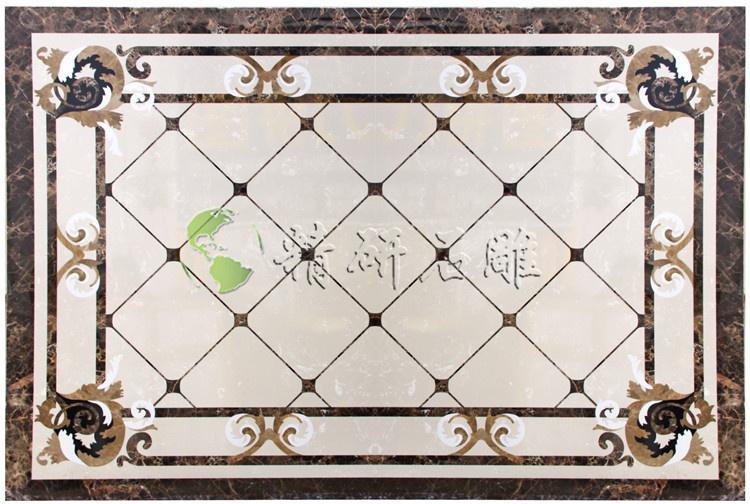 客厅中央铺拼花地砖,有什么好看的图案,求地砖拼花装饰效果图图片