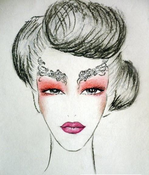 妆面设计图手绘