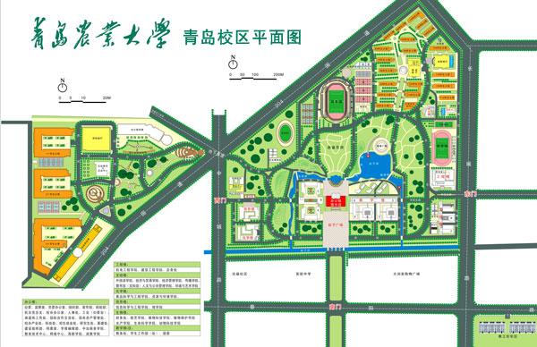 求青岛农业大学校园地图.