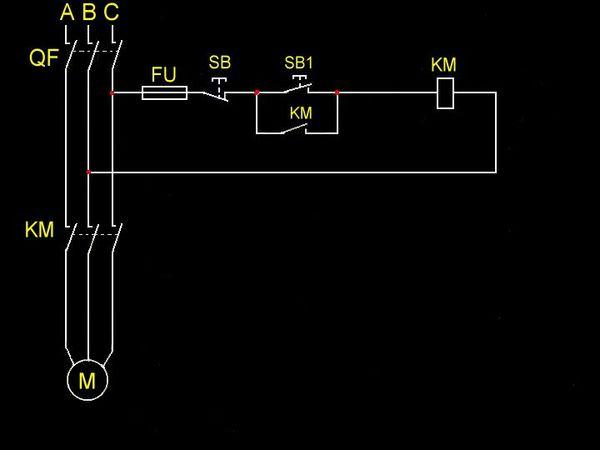 qf就是空气开关的电路图和符号.