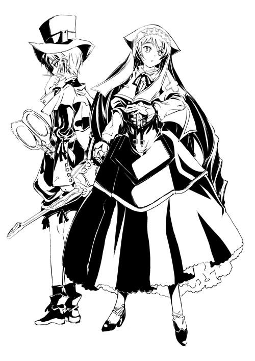 跪求两个人在一起卡通头像(最好是黑白的)