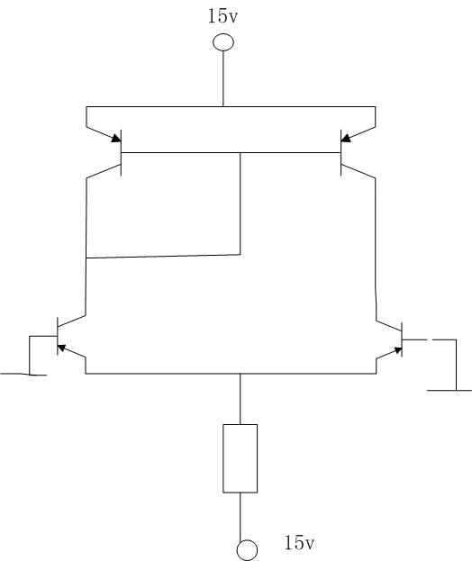 请问 有源负载差放电路 中四个三极管的vceq分析(如图