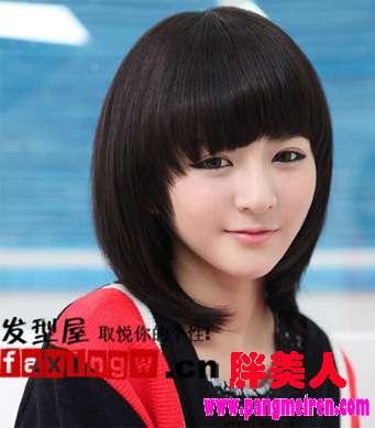 女孩胖胖圆圆的脸,适合哪些发型?图片