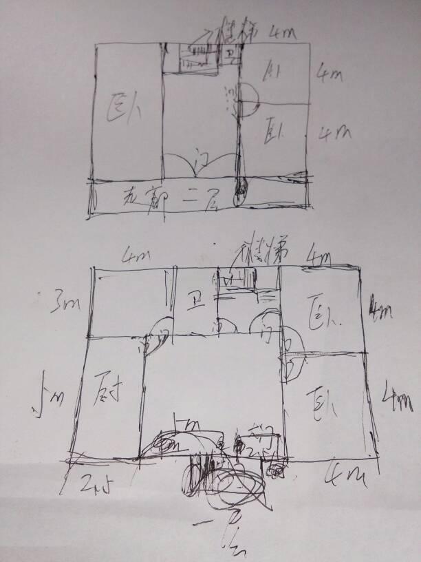 求设计图,长14米,宽8米!三房一厅一卫一厨房