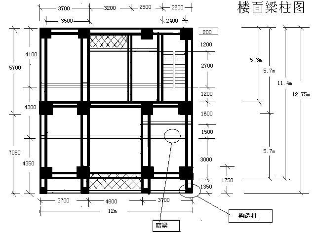 我家框架结构的楼房,高手为我出下板面钢筋料(带板面梁的布局图)
