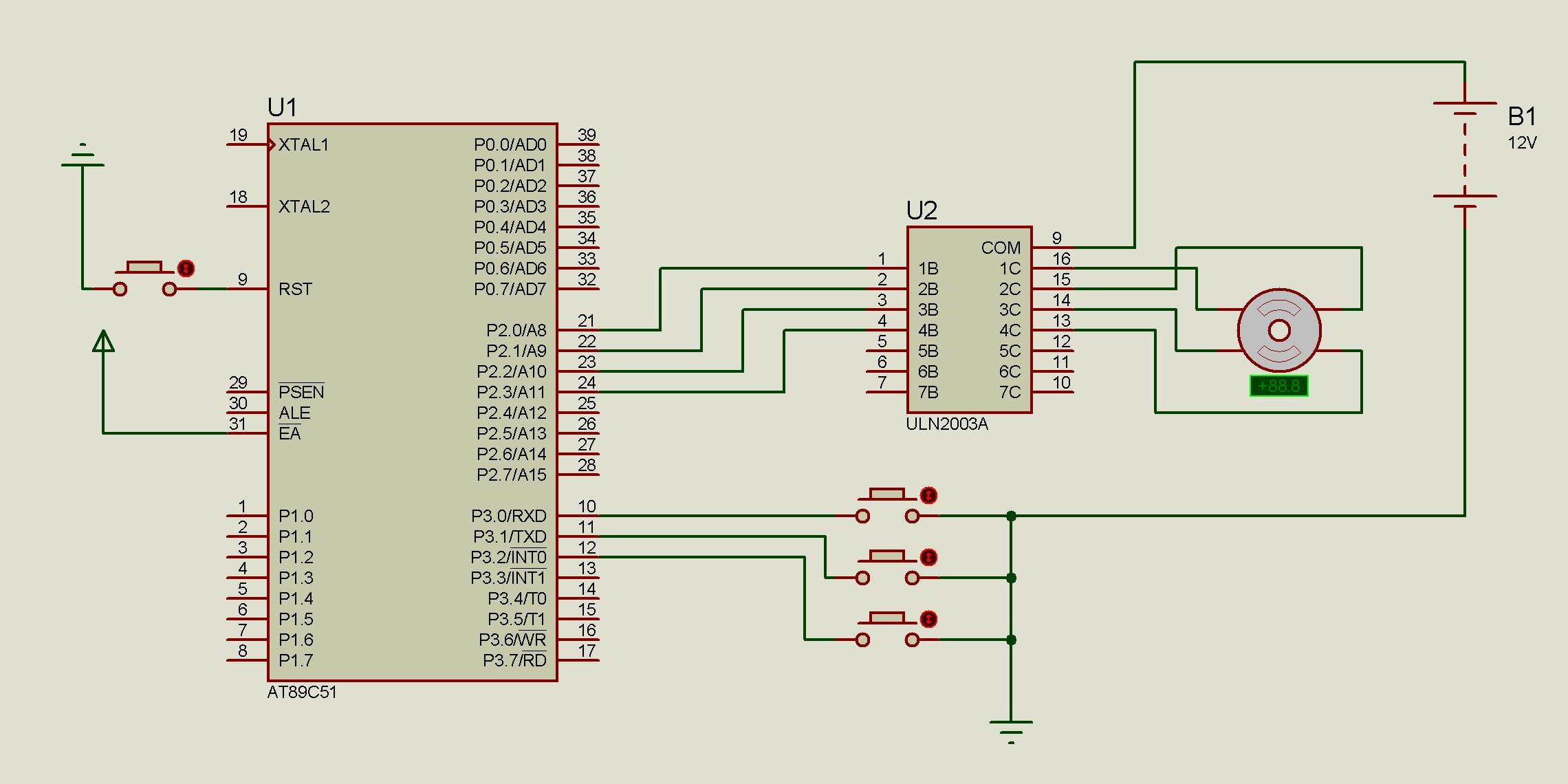【51单片机】uln2003步进电机驱动电路以及控制程序,毕业答辩,求大神