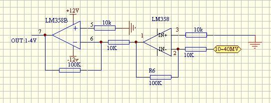 求一个直流电压放大100倍的电路