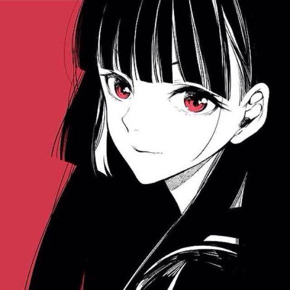 求酷点的女生动漫头像.最好主色为黑色.