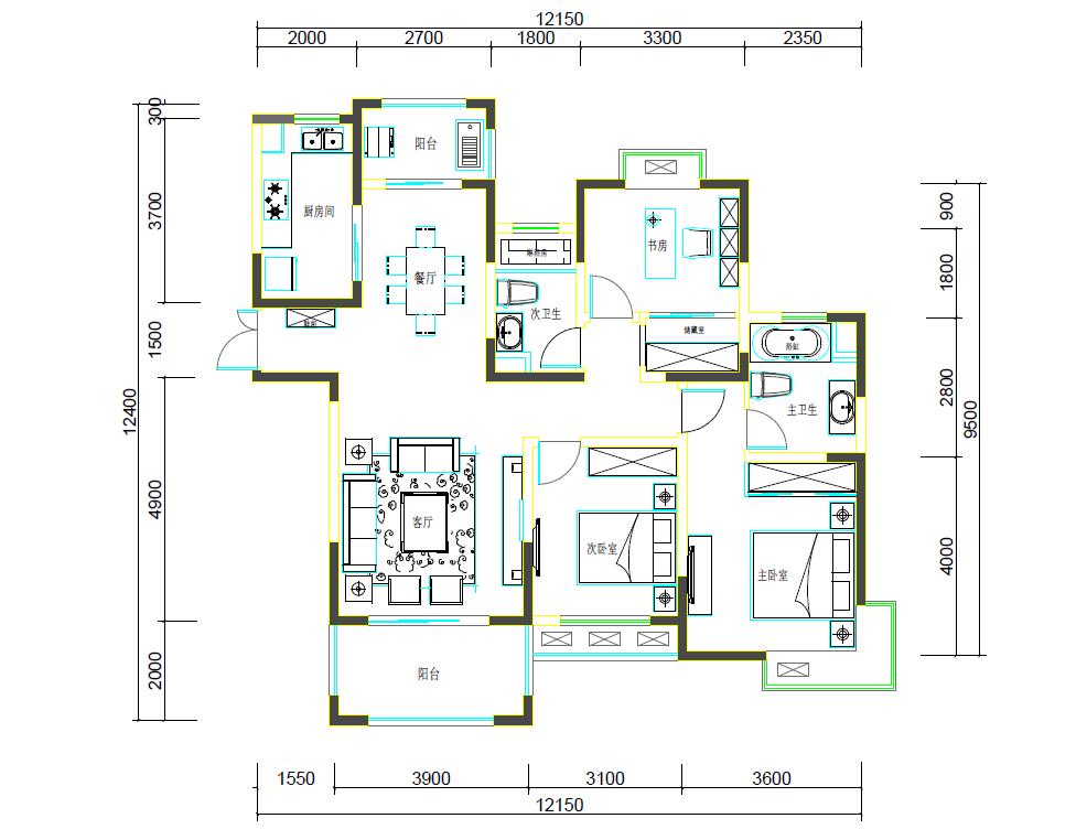 求房型设计图