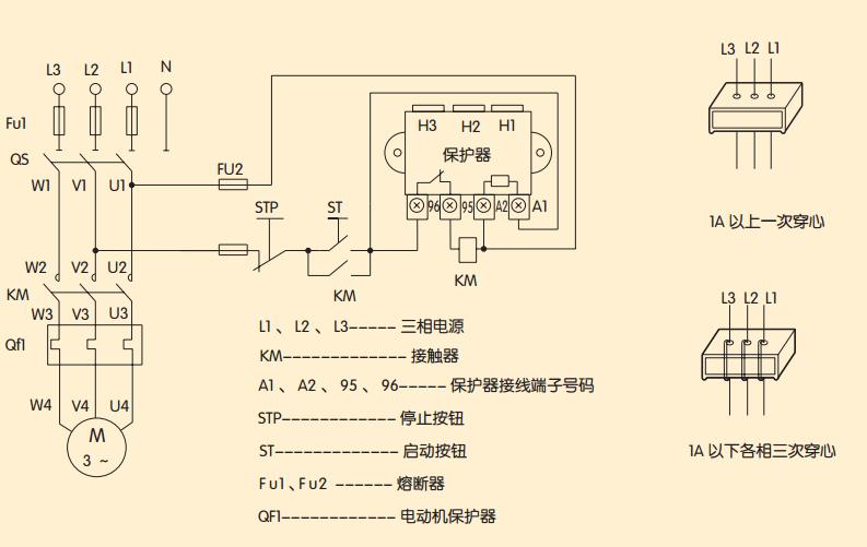 请问cjx2 德力西交流接触器和jd-5电动机综合保护器的接线方法.