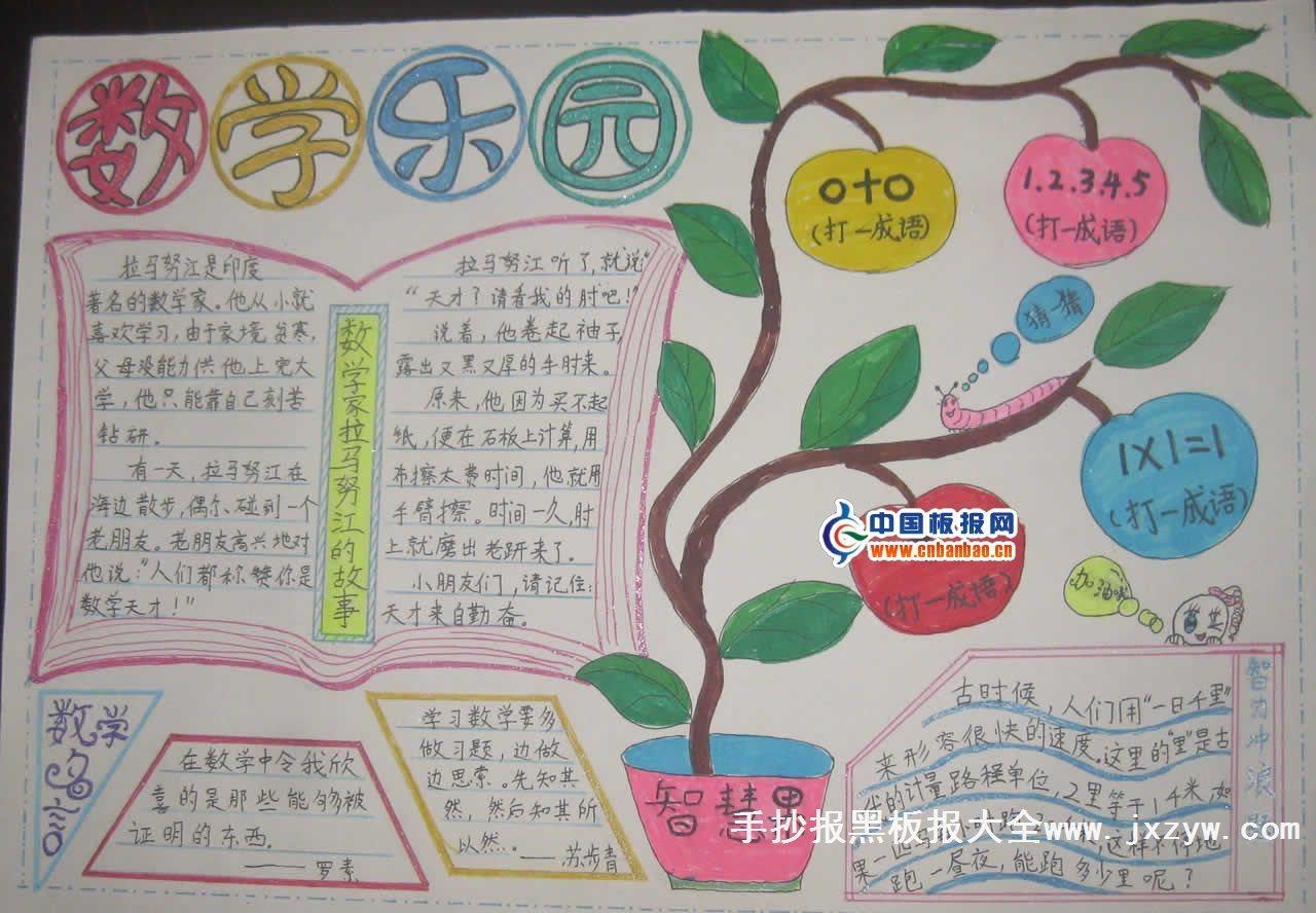查三年级下册的数学手抄报,上面又有图片又有清晰的字图片