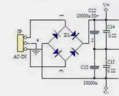 图中四个二极管整流桥是照图连着接吗