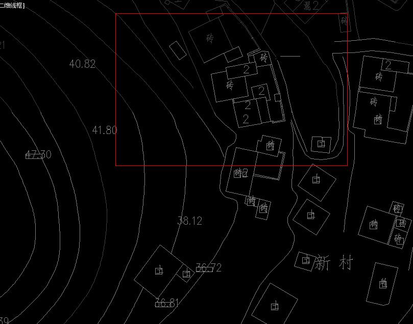 CAD意思完整的地形图剪裁出自己想要的cad里面mlc什么中将是图片
