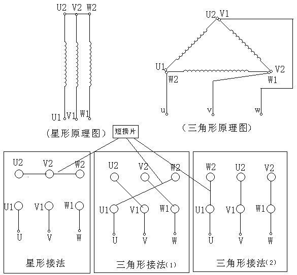 电机星三角接线方法