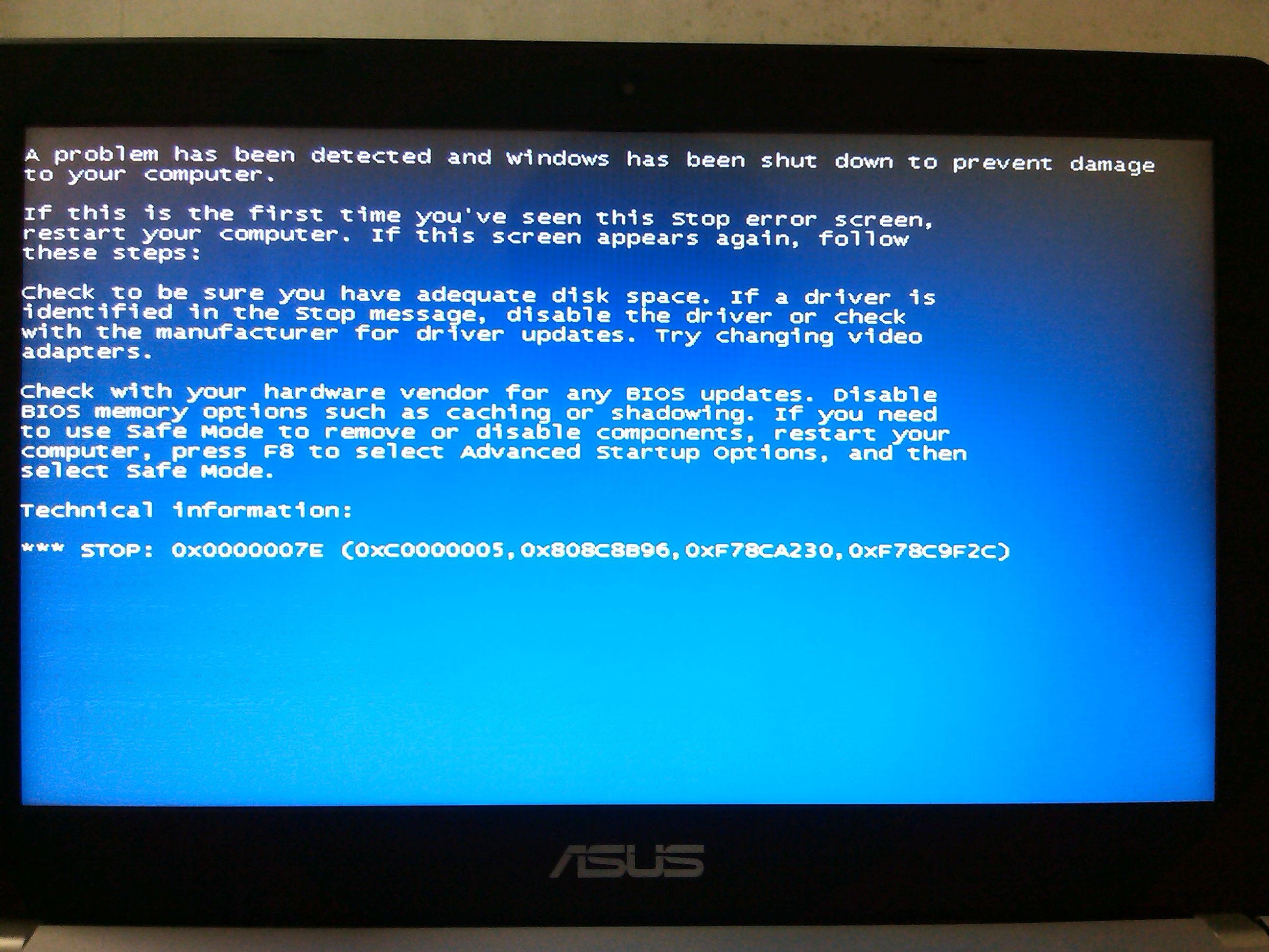 华硕k450j笔记本装xp系统会蓝屏,怎么办