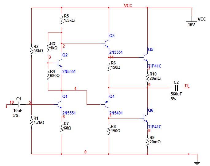 三极管功放电路图,简单一点的,最好是用3dd15d的,或者