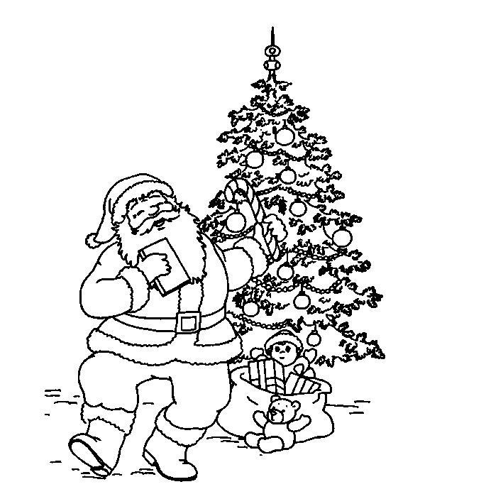圣诞老人简笔画背面