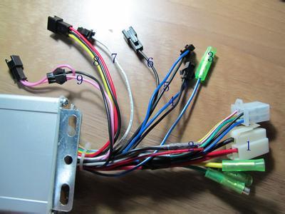 电动车控制器巡航线共有几根