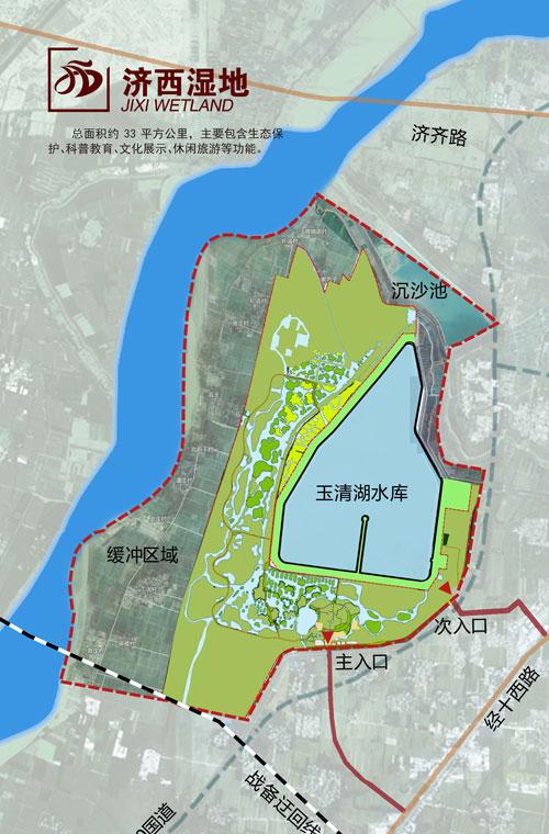 济南西部新城的规划结构