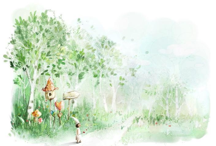 如何绘画森林花园