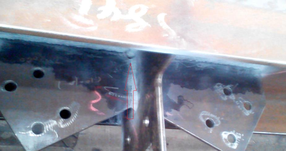 钢结构焊缝中折弯点的半圆代表什么意思?