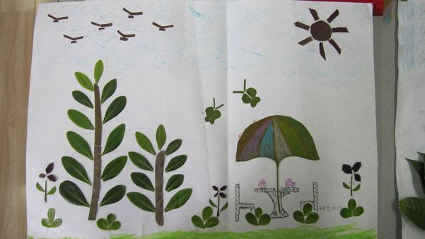 如何用叶子简单的做关于动物的手工
