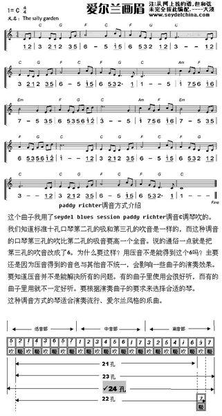 24孔口琴入门简谱