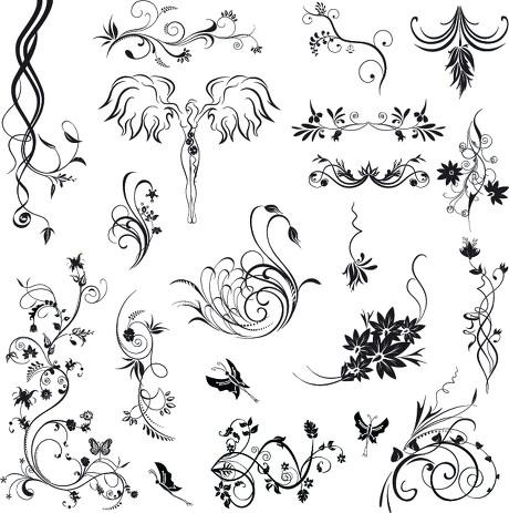 求好看的,简单点的手绘藤蔓花纹