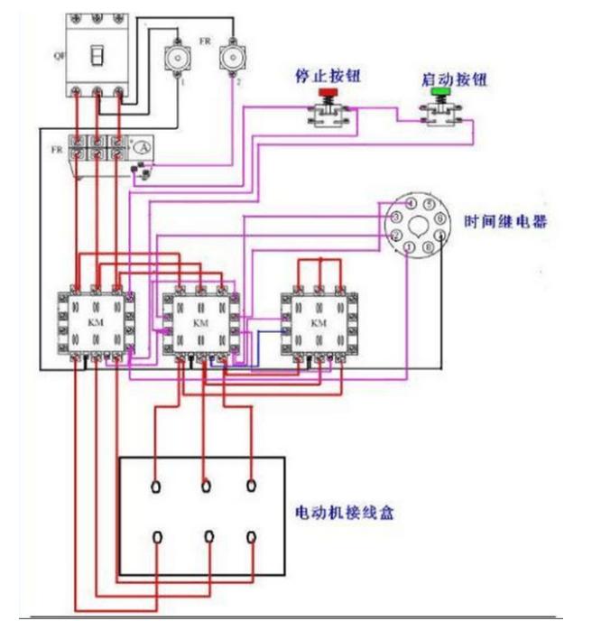 常用电机控制电路(星三角启动)