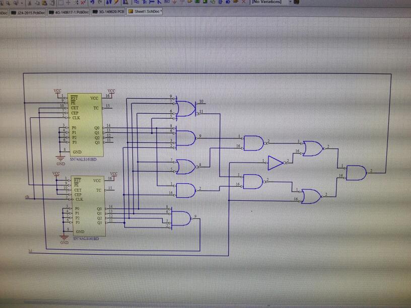 用两片74ls161和必要的逻辑门电路设计一个可控计数器