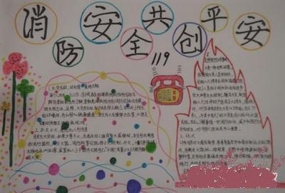 三年级手抄报关于消防共享生活的手抄报怎么画图片