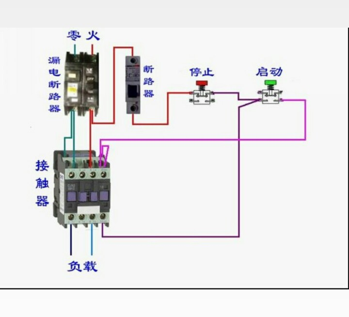 怎么和交流接触器(220v)接线(求实物接